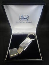 HALLMARKED SOLID SILVER 4GB USB MEMORY STICK SANDISK FLASH DRIVE -CORPORATE GIFT
