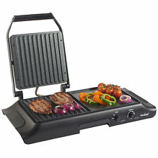 VonShef Non-Stick Multi-Functional Grill and Griddle Hot Plates / Sandwich Press