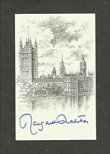 Hand Signed Bookplate MARGARET THATCHER  British Prime Minister
