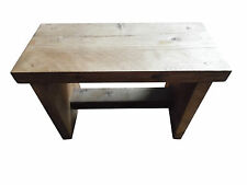 New Handmade Small Wooden Stool Step Bench - Shabby Chic - Rustic - Traditional