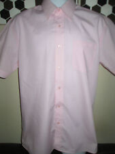 GEORGE- PINK POLYCOTTON SHORT SLEEVED Sleeved Shirt Size 15.5