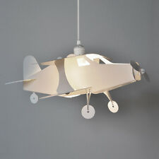 Kids White Aeroplane Easy Fit Ceiling Pendant Light Lamp Shade Lights Lampshade