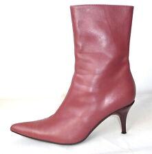 Fornarina Gr.38 Stiefeletten Lederstiefel Leder Stiefel boots rosa High heels