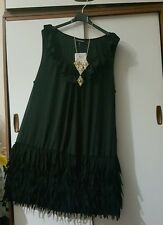 Anonymous Black 1920 Flapper Lagenlook Dress Size 18 BNWT