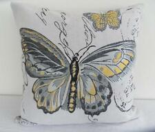 Butterfly Paris Grey Tapestry Cushion Cover Home Pillow Case Decor 45cm