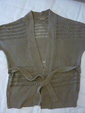 Short sleeved grey brown cardigan. Size 16