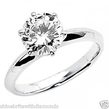2 Ct Round Cut Solitaire Engagement Wedding Promise Ring Solid 950 Platinum