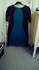 Ladies BHS jade green and black dress size 8
