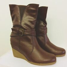 "Timeless dark brown 3"" Platform Wedges, Brand New with box. Size 3 UK, 36 EU."