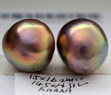 16.5, 16.2MM AAAAA JAPANESE KASUMI PEARLS HALF HOLE DRILLED