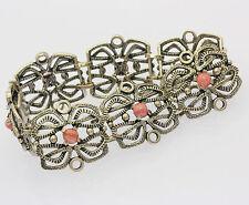 ♦Armband in aus 835 Silber mit Rhodochrosit Silberarmband Armreif Tracht 17,5 cm