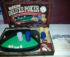 Yahtzee Deluxe Poker Game Complete excellent condition UK P & P included
