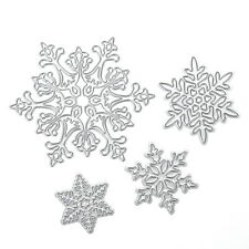 4pcs Christmas Snowflake Scrapbooking Cutting Dies Album Paper Card Diary Crafts