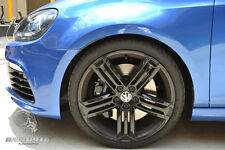 "4X GENUINE VW GOLF R TALLADEGA 19"" IN GLOSS BLACK WHEELS AND BRIDGESTONE TYRES"