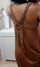 A1 Kleid Neu S M L Fransen ITALY BLOGGER Trend Hippie Boho Musthave Vintage chic