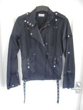 MOTO @ TOPSHOP BLACK COTTON BLEND CASUAL JACKET SIZE 8