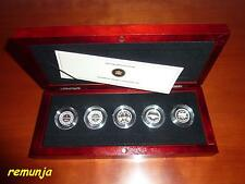 2012  CANADA  FINE SILVER  5 - COIN SET  *FAREWELL TO THE PENNY*  PROOF  QUALITY