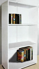Bücherregal Standregal Regal weiß 3 Fächer 60x110x30 cm melaminbeschichtet