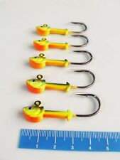 5 x OSPREY FISH-HEAD SHAPE PREMIUM JIGHEADS 10 grams ~ 50mm ~ 1/0...FREE POST