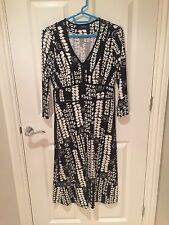 Women's size 10 Debenhams black and white dress