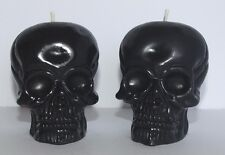 2 Skull Candles, Handmade, Blackcurrant Scented. Gothic / Pagan / Halloween