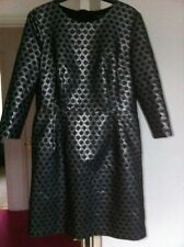 Autograph Dress M&S Black Silver Party Christmas Fully Lined