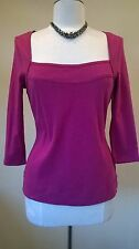 Monsoon BNWT Size 14 Eur 42 long sleeved cotton pink top/blouse