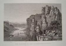 Kanapee Sächsische Schweiz Sachsen echter alter Stahlstich 1850