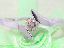Diamant Brillant Ring 585 Weißgold 14Kt Gold  0,25ct Viertelcaräter  Solitär