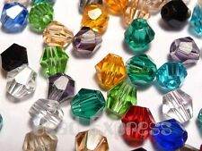50Pc 4mm Mix Assorted Colours Swarovski 5301 Grade Crystal Glass Bicone Beads