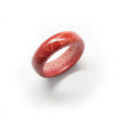 Natural Red Coral Ring 20mm Diameter 7mm Width