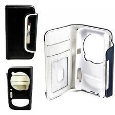 Luxus Book Style Schutz Handy Tasche Samsung Galaxy S4 ZOOM Schwarz-Weiß Hülle