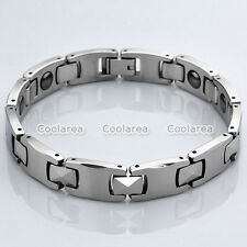 Energy Stainless Steel Magnetic Therapy Link Chain Bracelet Health Wristband Men