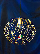 FORMA Italian Matt Gold Birdcage wire cage pendant ceiling light fitting LED