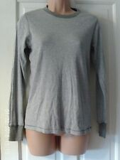 GREY AND WHITE  LONG SLEEVED TOP, SIZE 14