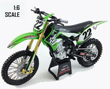 New Ray Toys Kawasaki Model KXF450 Chad Reed Two Two Motorsport - 1/6 scale