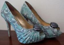MIMCO LADIES WOMEN GREEN BOLLYWOOD PEEP TOE SUEDE  & LEATHER RRP$299 SHOE 37