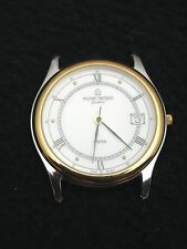 NEW Vintage French Michel Herbelin Mens Watch Stainless Steel Gold Swiss 7 Jewel