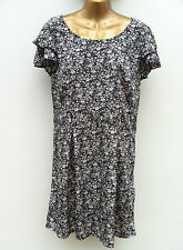VERO MODA Spanish Designer Mini Dress Size UK 14 EU42 Black Mix Floral WORN ONCE