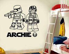 LARGE STAR WARS LEGO The Force Awakens BEDROOM WALL ART STICKER  DECAL