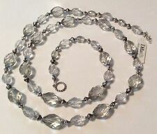 Iridescent Faceted Beaded Necklace