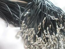 20 Black Rubber Necklace Cord, For Pendants Charms ~ jewellery making~Open ended