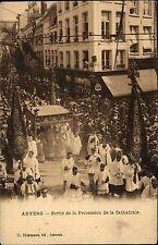 Antwerpen Anvers Belgique ~1910 Procession Prozession Priester prêtre Religion