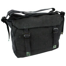 Highlander Military Webbing Haversack Shoulder Student Bread Bag Canvas Black