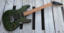 Aria E-Gitarre / chitarra / guitar grün schwarz cracle