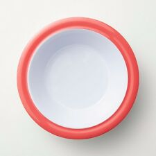 Barel Junior Red And White Rimmed Melamine Bowl - Kids, Breakfast, & Dinner NEW!