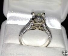 1.99CT CUSHION CUT DIAMOND BEAUTIFUL ENGAGEMENT RING IN STERLING SILVER