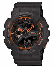 Casio G-Shock Mens Wrist Watch GA110TS-1A4 GA-110TS-1A4 Digi-Analog Grey-Orange