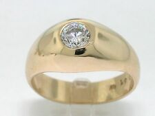 Diamant Brillant Ring 585 Gelbgold 14Kt Gold  1 Brillant 0,61ct River Si