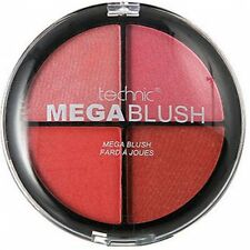 Technic Mega Blush Quad Blusher Palette - 4 Shades in 1 Large Compact